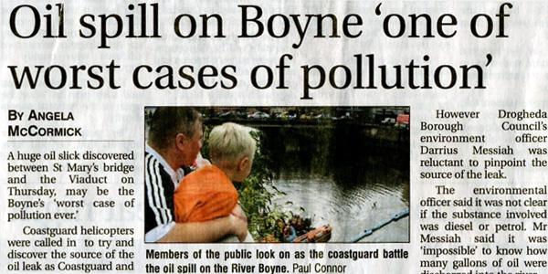 River Boyne Ol Spill