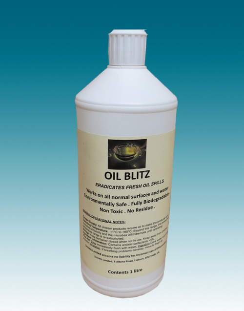 OIl Blitz in 1 litre bottle