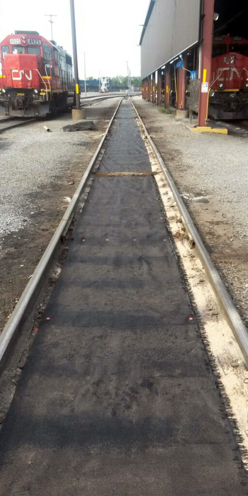 PRP and matting on railway siding