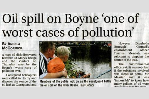 River Boyne oil spill